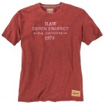 Redfield RAW Duży T-shirt Bordowy