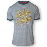 IRVIN-D555 'Los Angeles Athletic' Duży T-shirt Szary