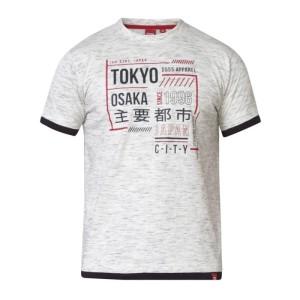 73198c2280 MERLIN-D555 T-shirt Biały Duże Rozmiary