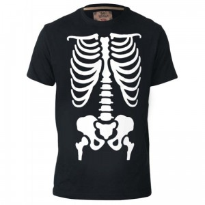 SCARY-D555 Halloween Skelton Duży T-shirt Męski