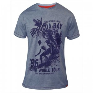 CLAYTON-D555 ''Honolua Bay'' Duży T-shirt Denim