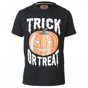 SCARY-D555 Halloween Pumpkin Duży T-shirt Męski