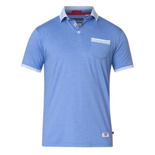 17a92089df3687 GEORGE-D555 Duża Koszulka Polo Błękitna biggie.pl KS60197 Sky Blue Marl