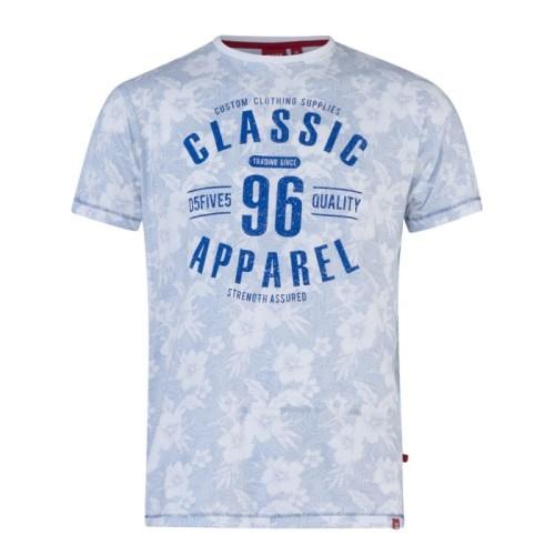 ccde1a38804fa9 DODGE-D555 T-shirt Błękitny Duże Rozmiary biggie.pl KS60226 Sky Blue