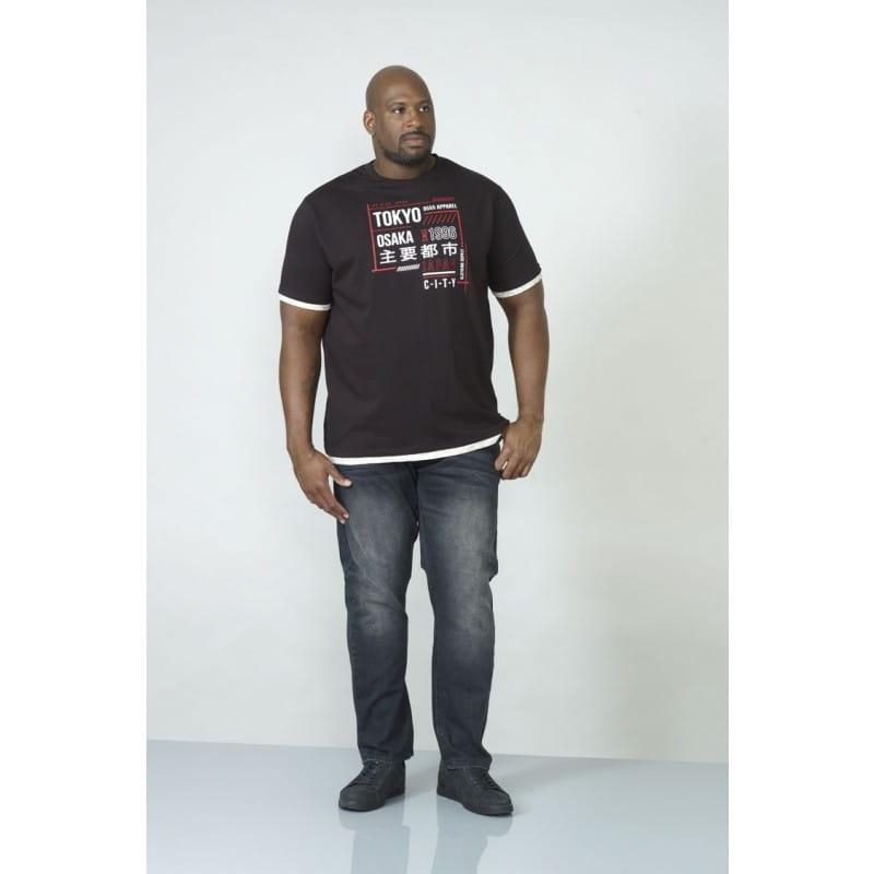 5c10f9357d3cc0 MERLIN-D555 T-shirt Czarny Duże Rozmiary biggie.pl KS60173 Black
