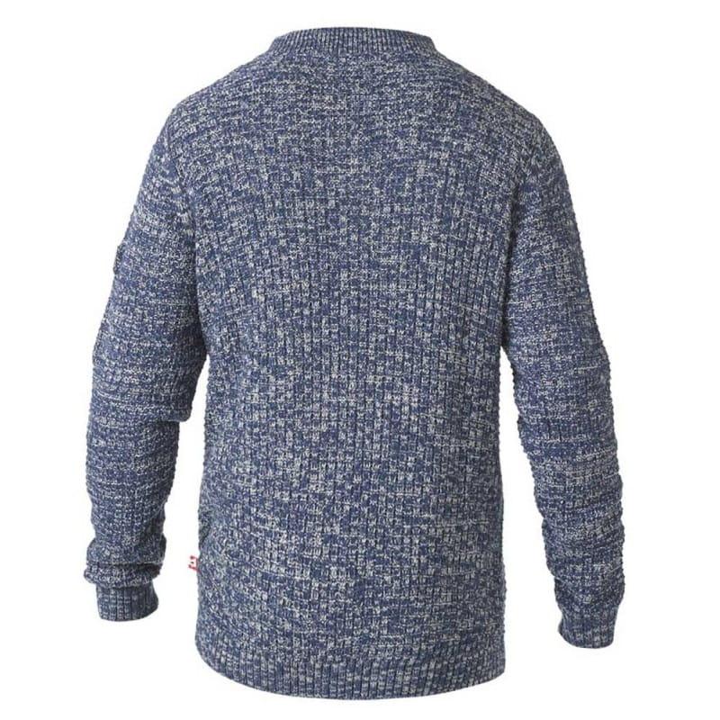 HAMILTON D555 Sweter Męski Szary 4XL Duże Rozmiary